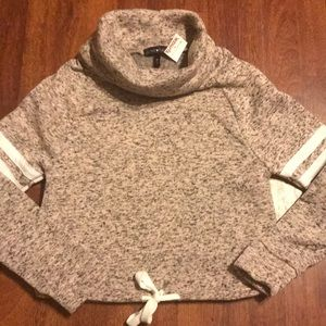 NWT Cropped Cowl Neck Top. Size M